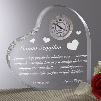 Mesajlı Kalp Saat